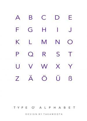 Type O' Alphabet