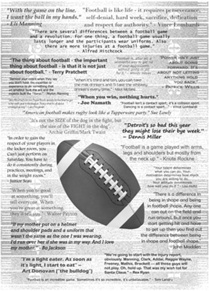 American Football: Quotes