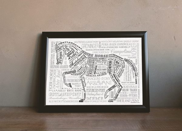 Wandbild pferderassen