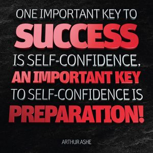 Poster arthur ashe - one important key to success
