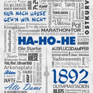 Poster Wörterposter Fußball Berlin