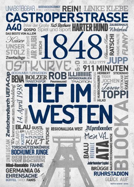 Wörterposter Fußball Bochum Tief im Westen