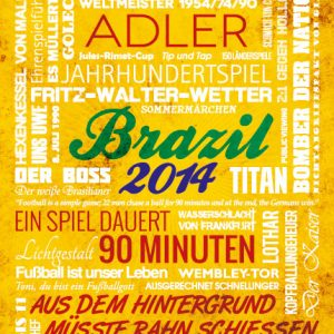 Wörterposter Fußball Brazil 2014