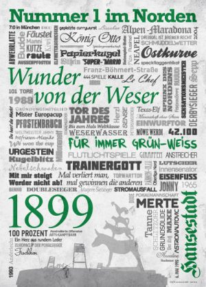 Wörterposter Fußball Bremen