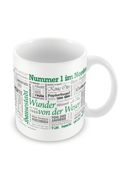 Tasse Wörter Fußball Bremen
