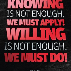 Poster bruce lee - knowing is not enough