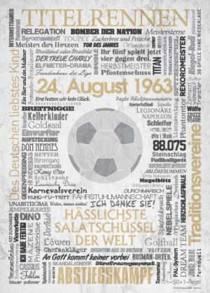 Wörterposter Fußball Bundesliga