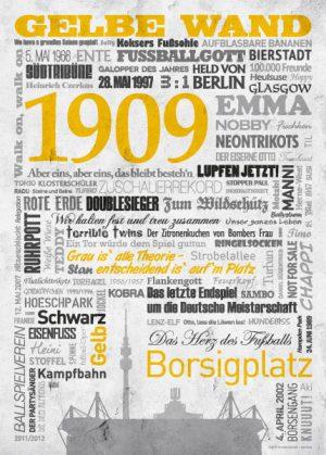 Wörterposter Fußball Dortmund Gelbe Wand