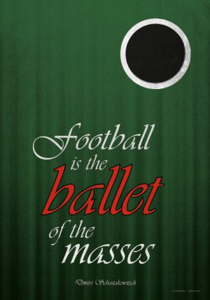Poster Football Ballet of the masses