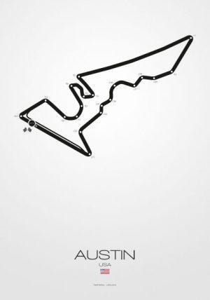 Poster Formel 1 Strecke USA Austin