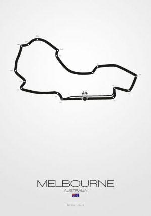Poster Poster Formel 1 Strecke Australien Melbourne
