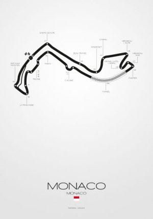 Poster Formel 1 Strecke Monaco