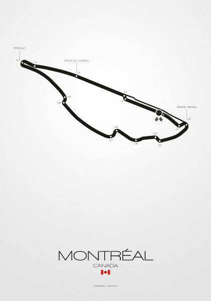Poster Formel 1 Strecke Kanada Montreal