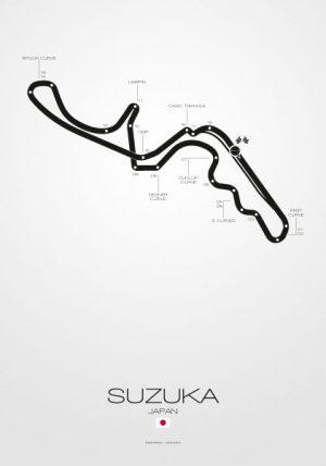 Poster Formel 1 Strecke Japan Suzuka
