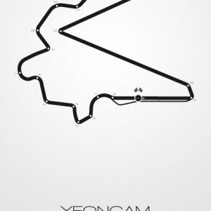 Poster Formel 1 Strecke Südkorea Yeongam