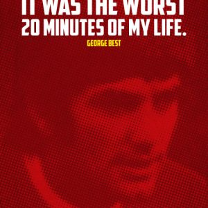 Poster Zitat George Best In 1969 i gave up women