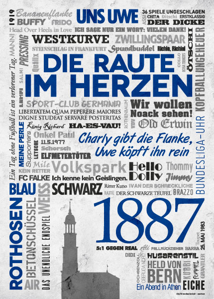 Wörterposter Fußball Hamburg