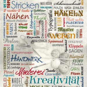 Wörterposter Handarbeit