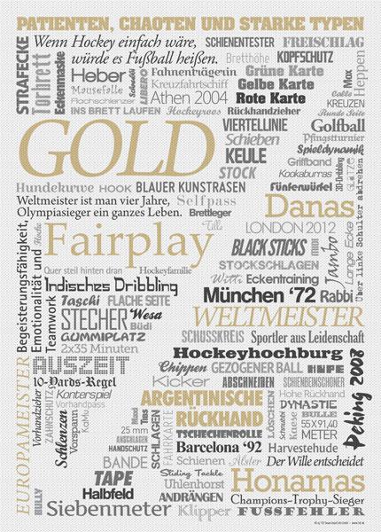 Wörter Poster Hockey