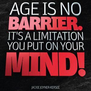 Poster jackie joyner-kersee - age is no barrier