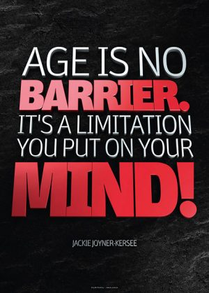 Poster jackie joyner-kersee - age is no barrier