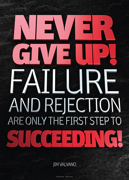 Poster jim valvano - never give up