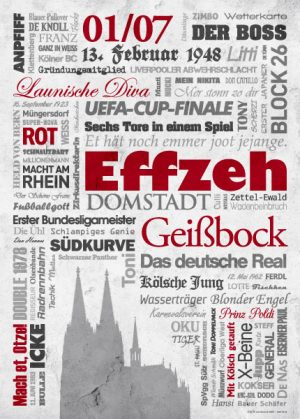 Wörterposter Fußball Köln