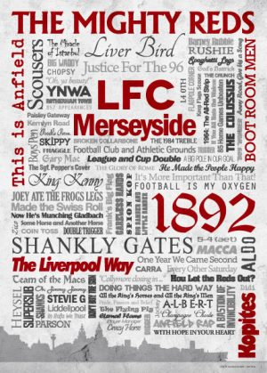 Wörterposter Fußball Liverpool