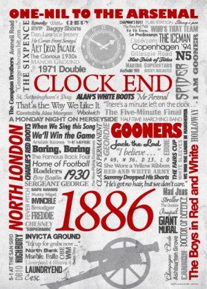Wörterposter Fußball Arsenal
