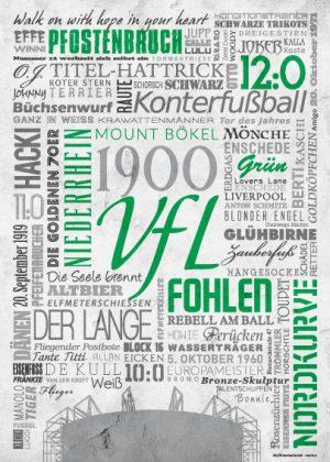 Wörterposter Fußball Mönchengladbach