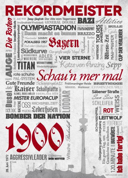 Wörterposter Fußball München