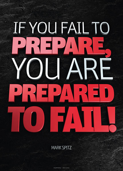 Poster mark spitz - if you fail to prepare