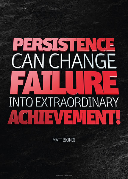 Poster matt biondi - persistence can change