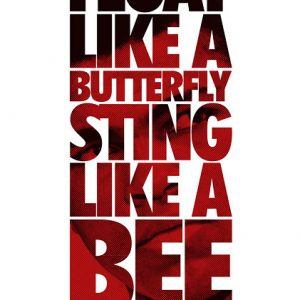 Poster Float like a butterfly - Muhammad Ali