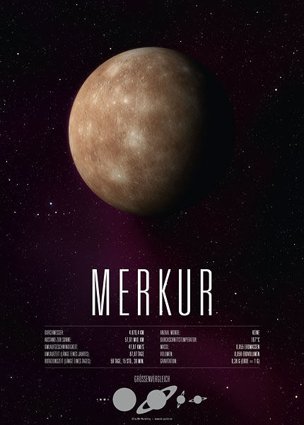 Poster Planet Merkur