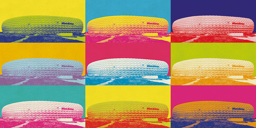 Pop Art Stadion Munchen