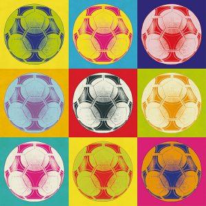 Poster Popart Fußball