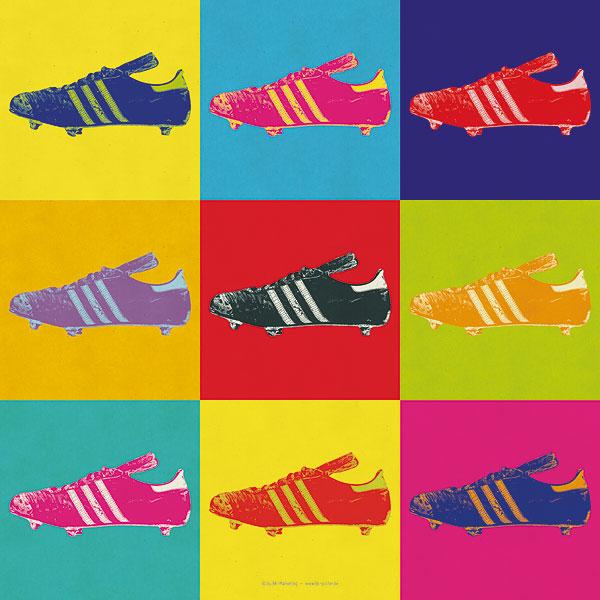 Poster Popart Fußballschuh