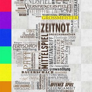 Schachposter mit Farbe
