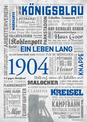 Wörterposter Schalke Ein Leben lang