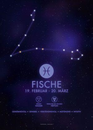 Poster Sternzeichen Fische