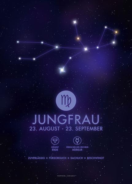 Poster Sternzeichen Jungfrau