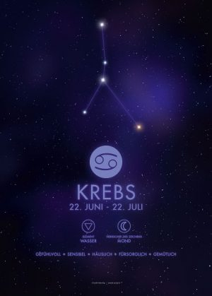 Poster Sternzeichen Krebs
