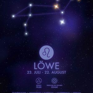 Poster Sternzeichen Löwe