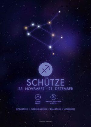 Poster Sternzeichen Schütze