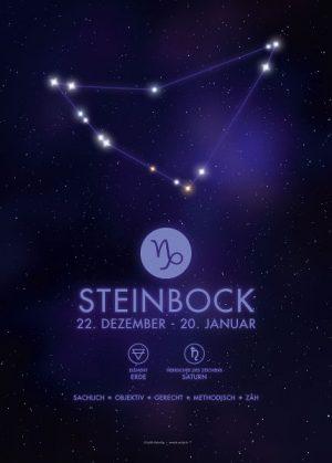 Poster Sternzeichen Steinbock