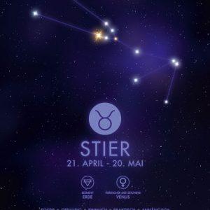 Poster Sternzeichen Stier