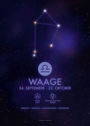 Poster Sternzeichen Waage