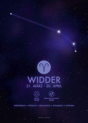 Poster Sternzeichen Widder