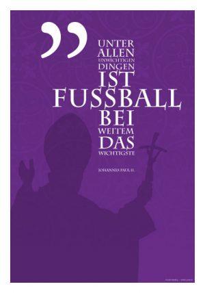 Poster Zitat Johannes Paul II. Fußball